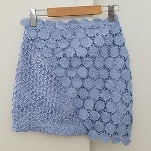 🍭Top Shop Light Blue crochet Skirt